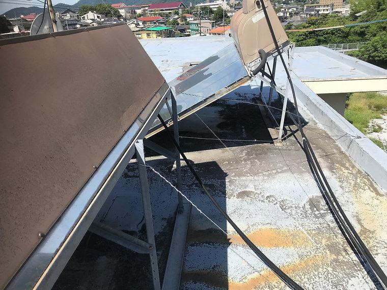 屋上防水工事 熊本県熊本市中央区 施工前 ペイントデポ