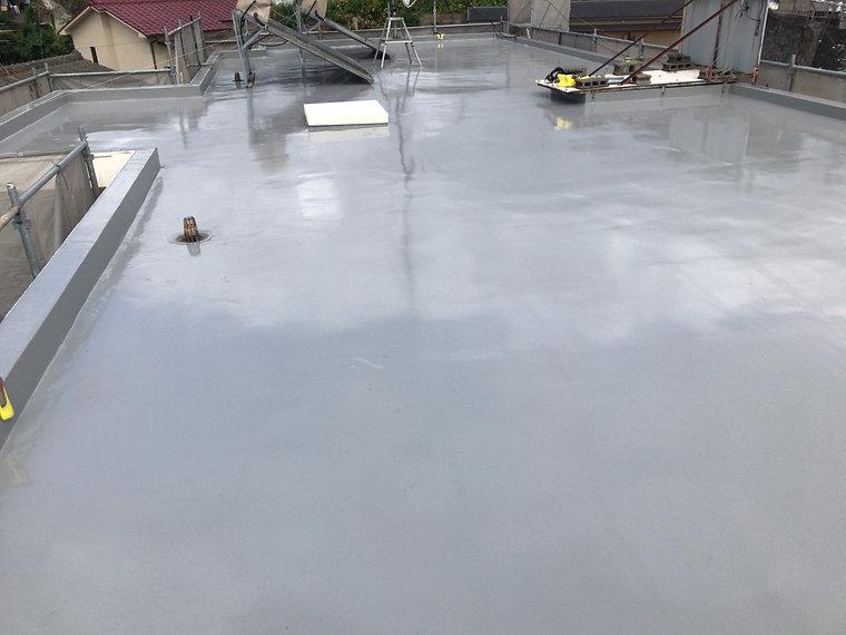 屋上防水工事 熊本県熊本市中央区 施工後 ペイントデポ