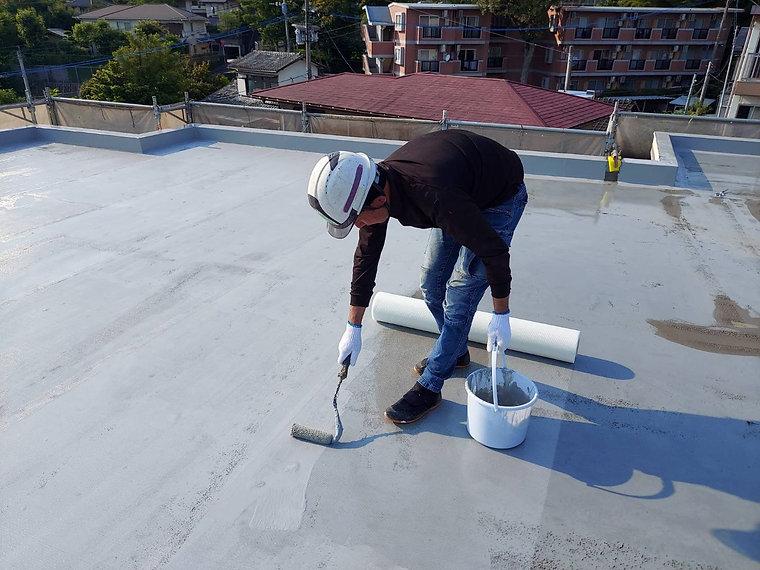 屋上防水工事 熊本県熊本市中央区 メッシュ貼り ペイントデポ