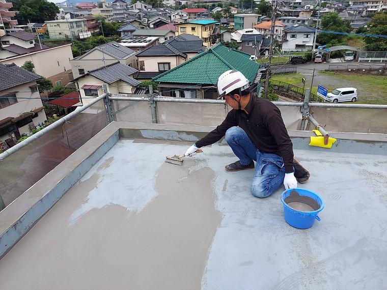 屋上防水工事 熊本県熊本市中央区 下地補修 ペイントデポ