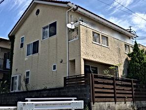 新産住拓の外壁塗装 熊本県熊本市東区 外壁塗装工事 施工前 ペイントデポ