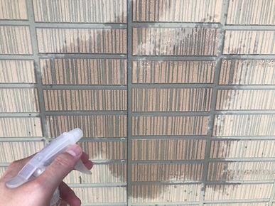 外壁診断(霧吹きによる防水検査)