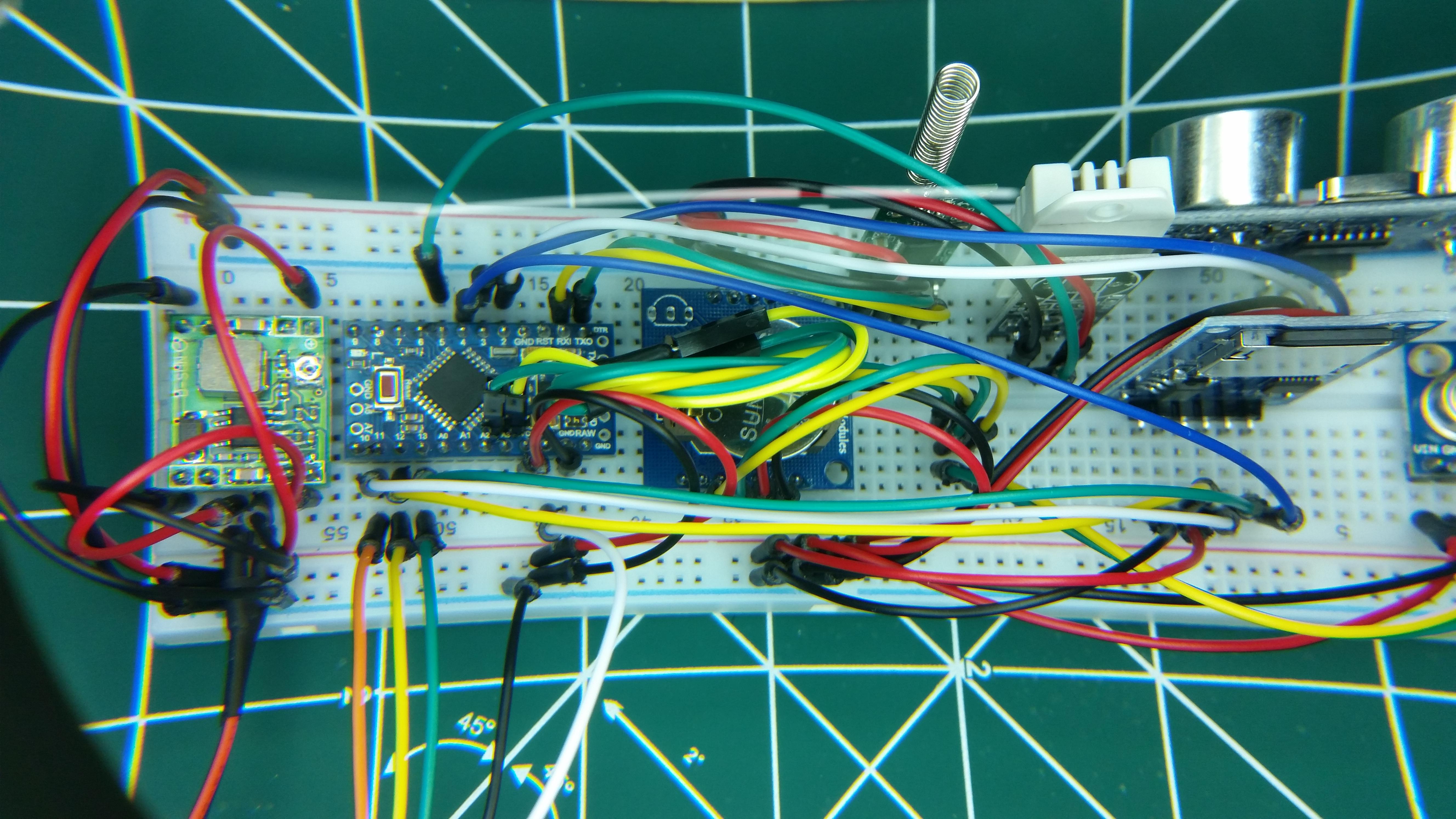 Testes de sensores