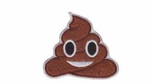 Poop Emoji Iron On Patch