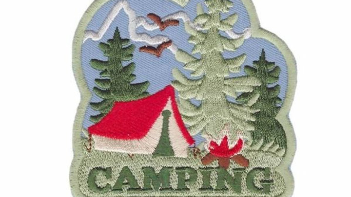 Camping Iron On Patch