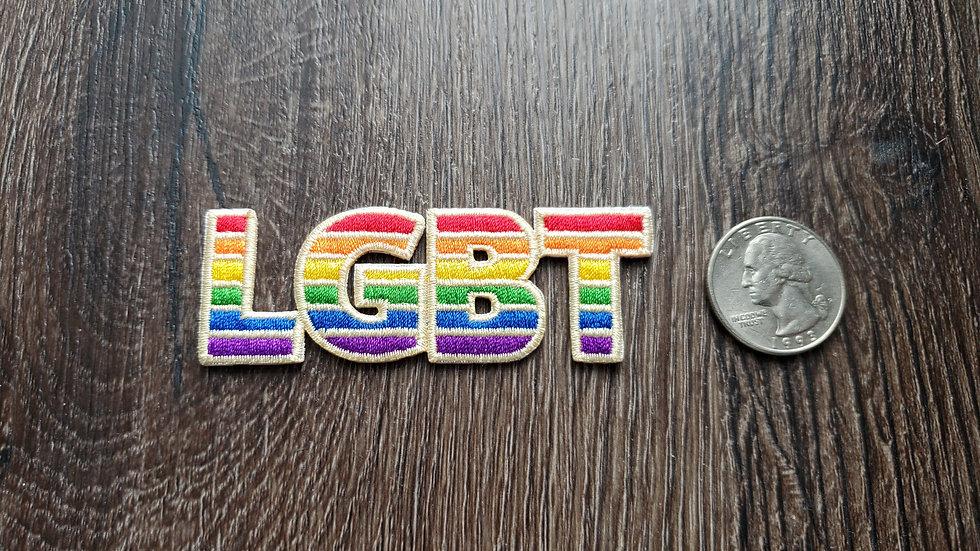 LGBT Rainbow Iron On Patch