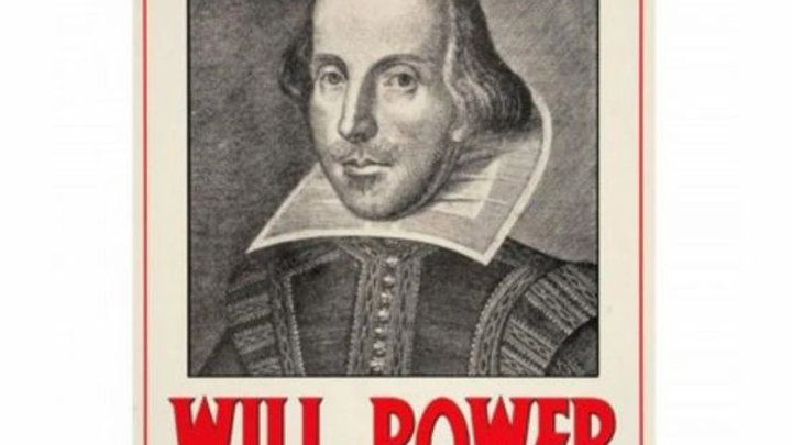 Will Power | Shakespeare Metal Sign