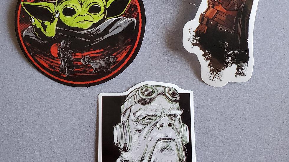 Baby Yoda | Star Wars | Mandalorian Stickers