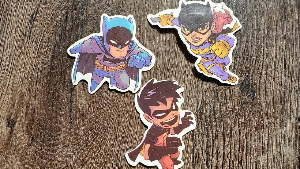 Batman | Robin | Cat Woman Stickers