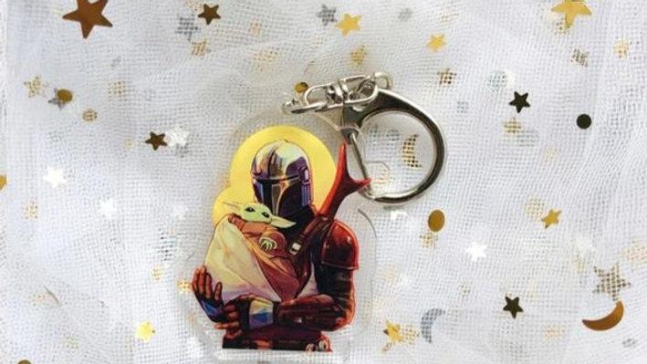 Mandalorian Keychain   Baby Yoda   Star Wars