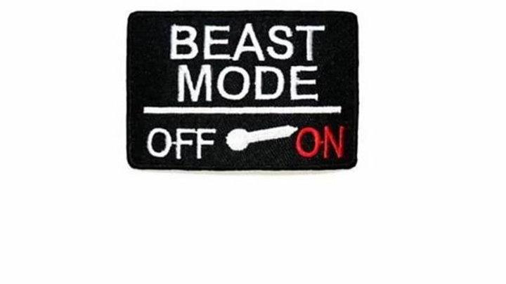 Beast Mode Iron On Patch