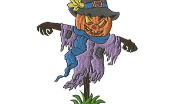 Pumpkin Head Iron On Patch