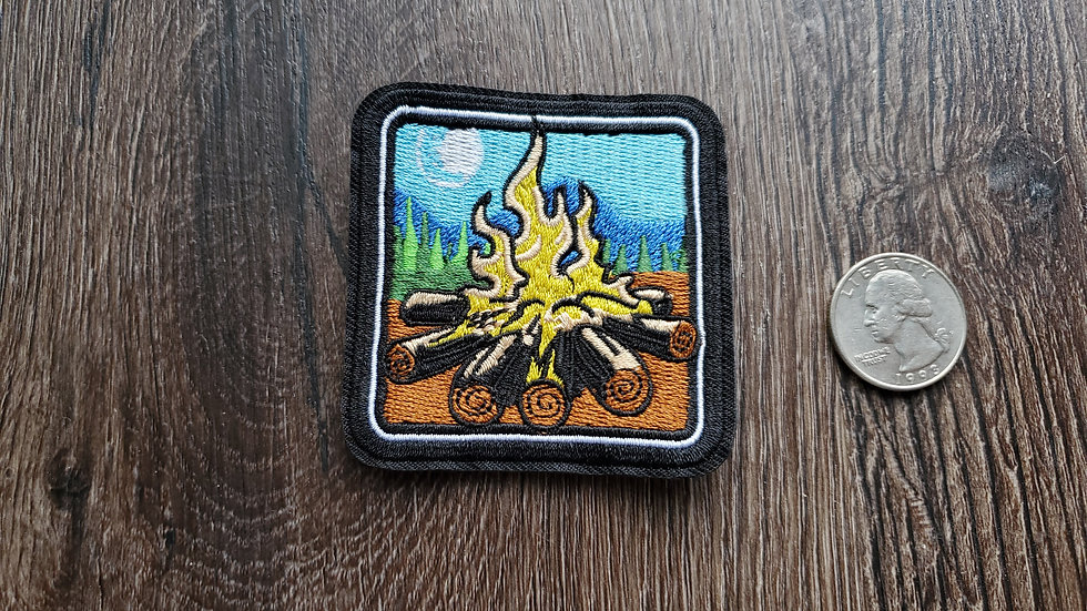 Fire Pit | Camping Iron On Patch