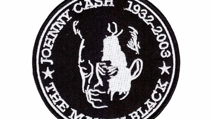 Johnny Cash Iron On Patch