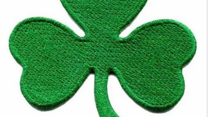 3 Leaf Clover | Shamrock Iron On Patch