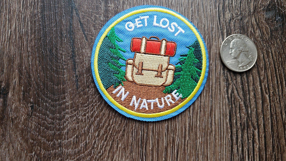 Get Lost in Nature Iron On Patch