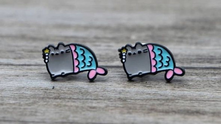 Mermaid | Pusheen Earrings