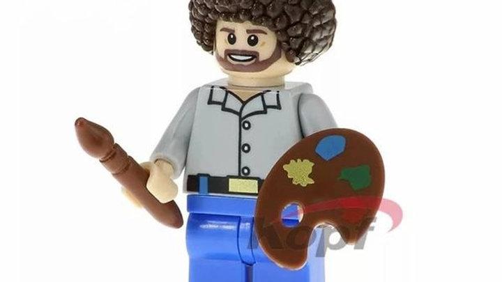 Bob Ross Lego Figure