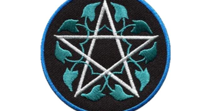 Pentagram | Vines Iron On Patch