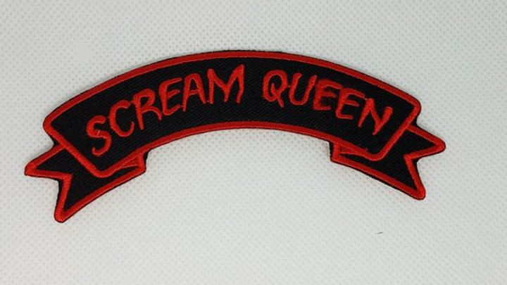 Scream Queen Iron On Patch