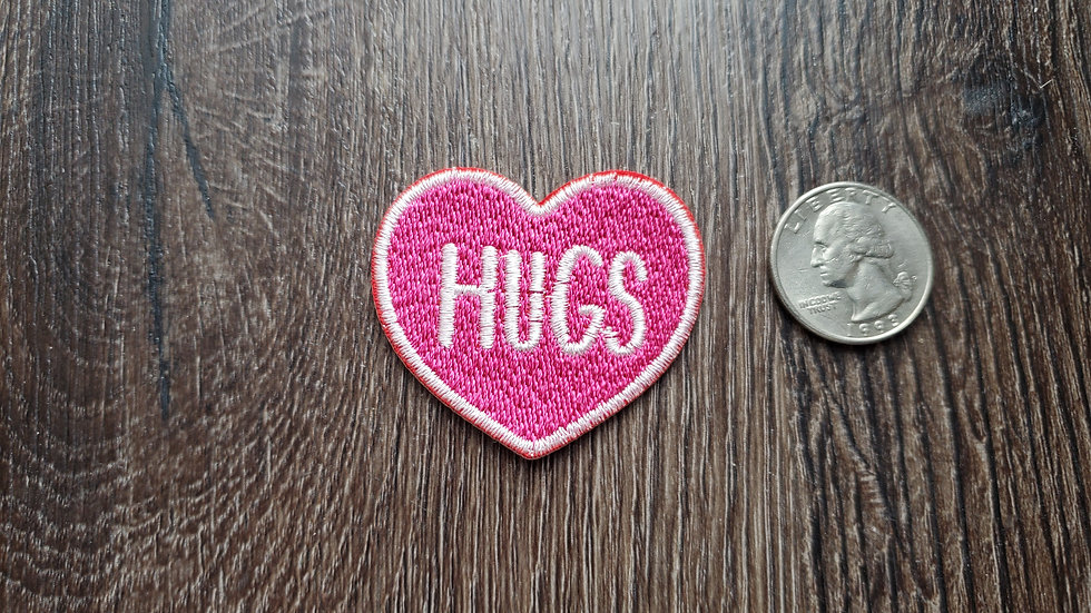 Hugs Heart Iron On Patch