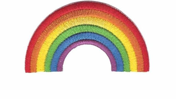 Rainbow Iron On Patch