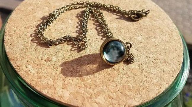 3D Moon Necklace