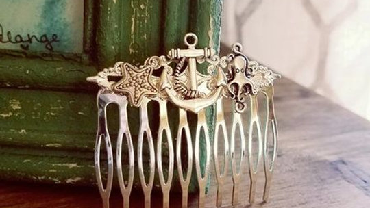 Mermaid | Under the Sea Metal Hair Comb