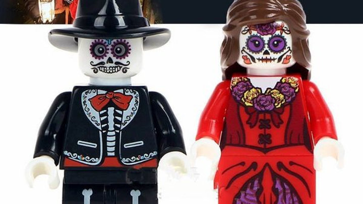 Sugar Skulls | Day of the Dead Lego Figure Set