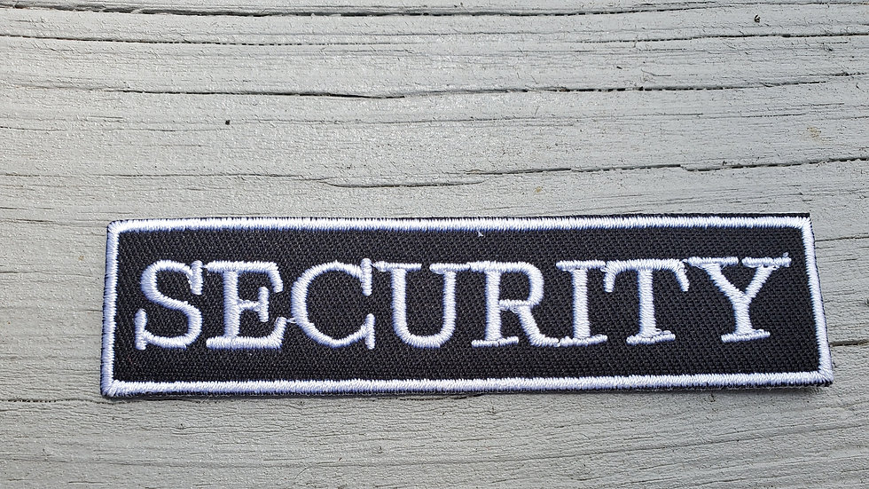 Security Iron On Patch