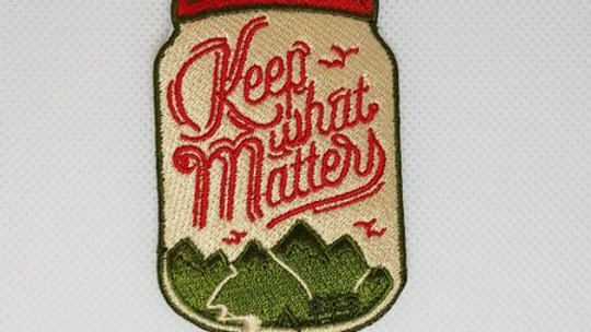 Keep What Matters | Mountains Iron On Patch