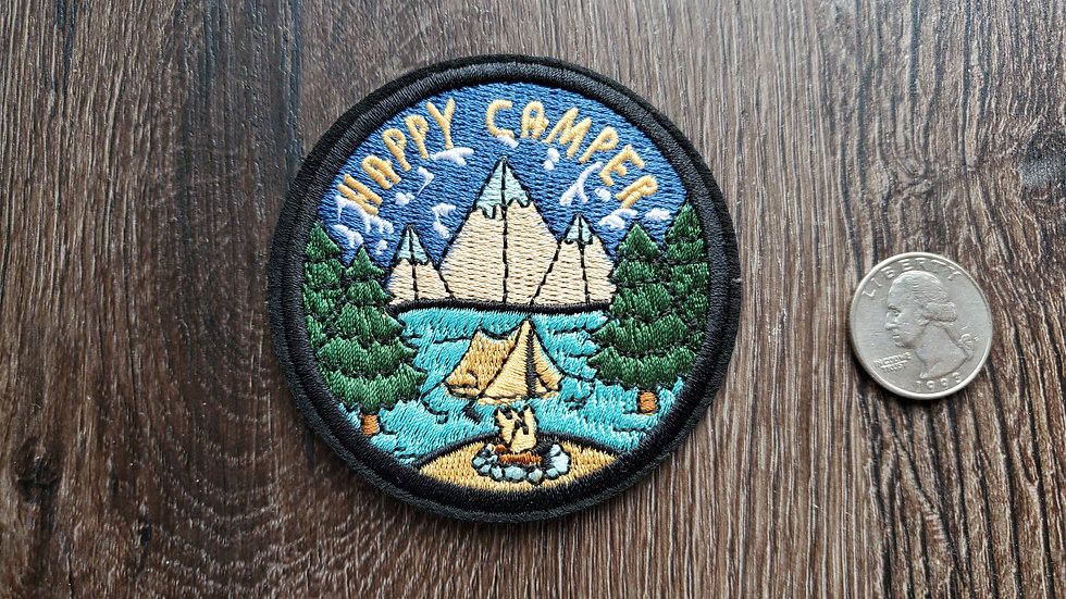 Happy Camper Iron On Patch