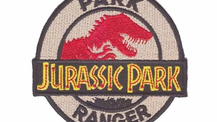 Jurassic Park Iron On Patch