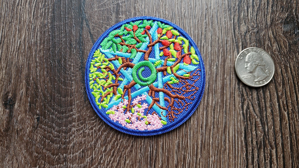 Nature   Season   Sabbat Pentagram Iron On Patch