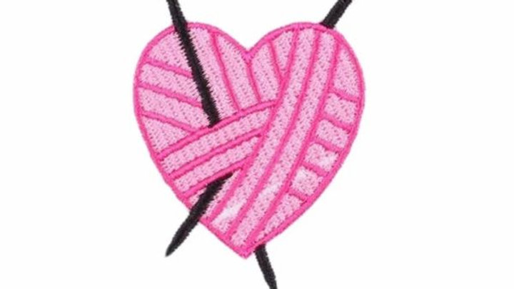 For the Love of Knitting Iron On Patch