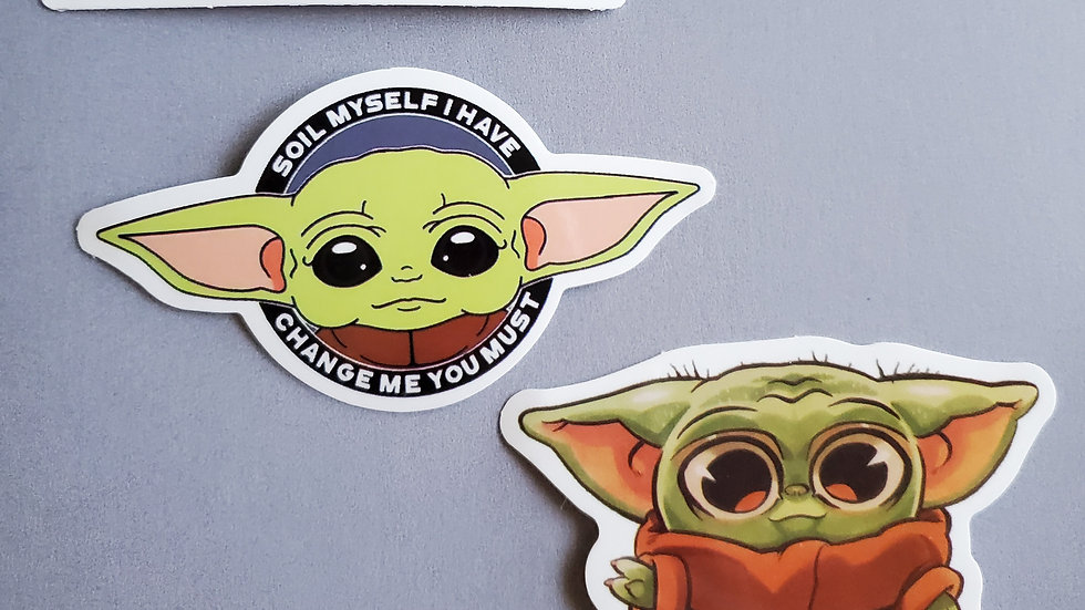 Baby Yoda   Star Wars   Mandalorian Stickers