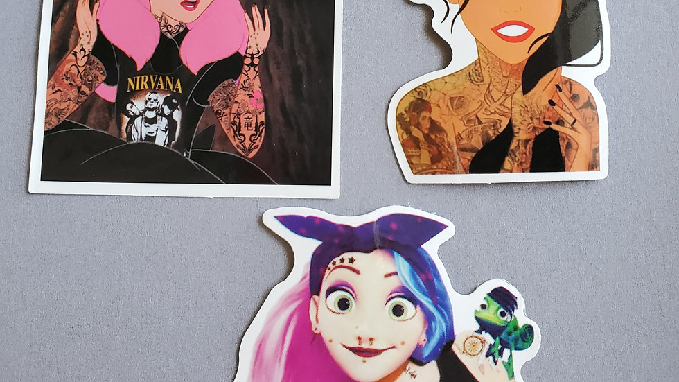 Punk Princess Stickers