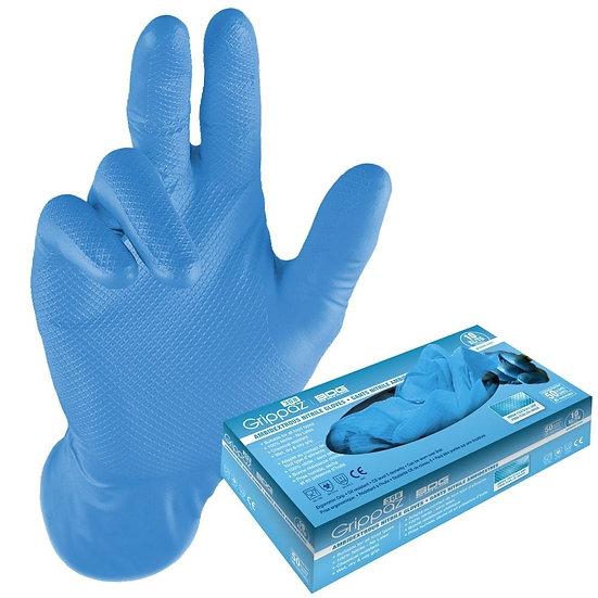 Grippaz 8 Mil Food Grade Gloves 50 Pack Blue