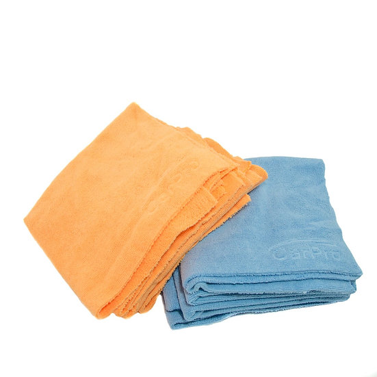 "CarPro Microfiber 2 Face 16"" x 16"" Blue/ Orange 10 Pack"