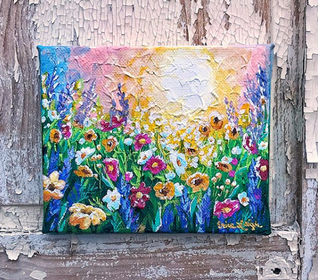 """Wildflowers at Sunrise No. 2"""