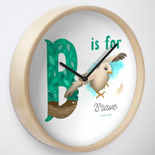 """B is for Brave"" Clock"