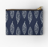 """Fine Feathers"" Zipper Pouch"
