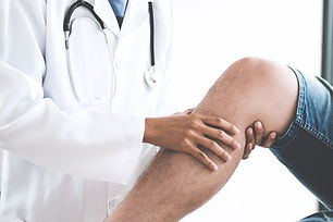 English speaking orthopedist with patient