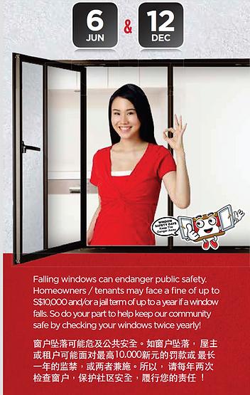 HDB window maintanance in Singapore