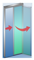 Toilet Door Slide and Swing Mechanism Supreme Door