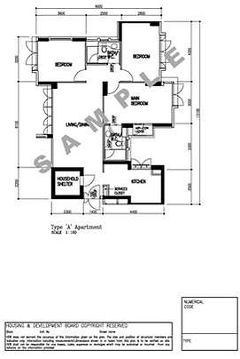 fire rated door Singapore | required document - HDB floorplan