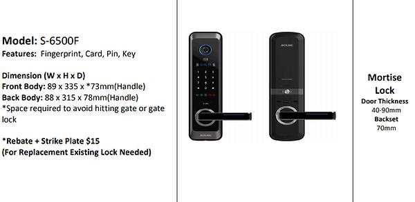 Schlage S6500F Digital Lock For Main Doo