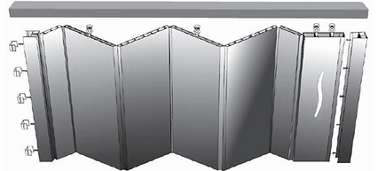 PVC folding door mechanism in Singapore