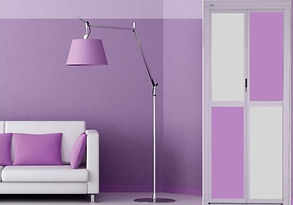 Bathroom Door Singapore | Purple Bifold Door Singapore | Enhanced toilet door singapore
