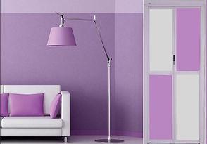 Bathroom Door Singapore | Purple Bifold Door Singapore | Enhanced toilet door singapore